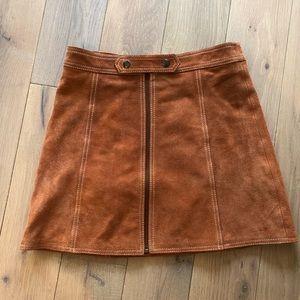 TopShop - Suede Miniskirt